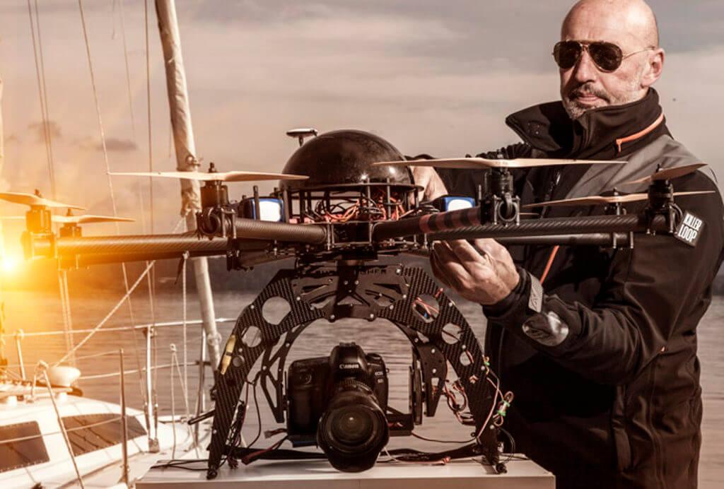Walter Zerla: una barca, due droni, un fotografo e una sfida