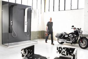 Colonna doccia CRIO Damast: a casa come in una SPA