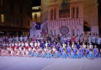 Il gruppo di atlete del Twiring Santa Cristina