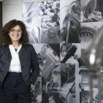 Concetta Mastrolia, AD Damast, all'interno della sua azienda specializzata in doccetteria