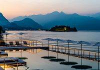 Piscina a sfioro sul Lago Maggiore dove si è svolto l'evento di Graniti Cusio organizzato da Engarda Giordani Comunicazione
