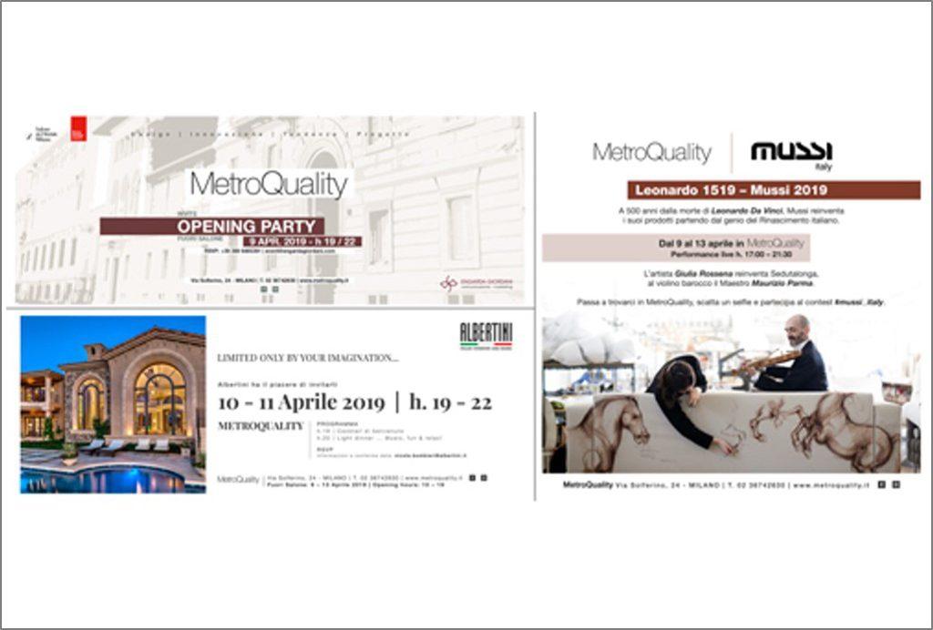 FuoriSalone Engarda Giordani Comunicazione: tanti eventi a MetroQuality!