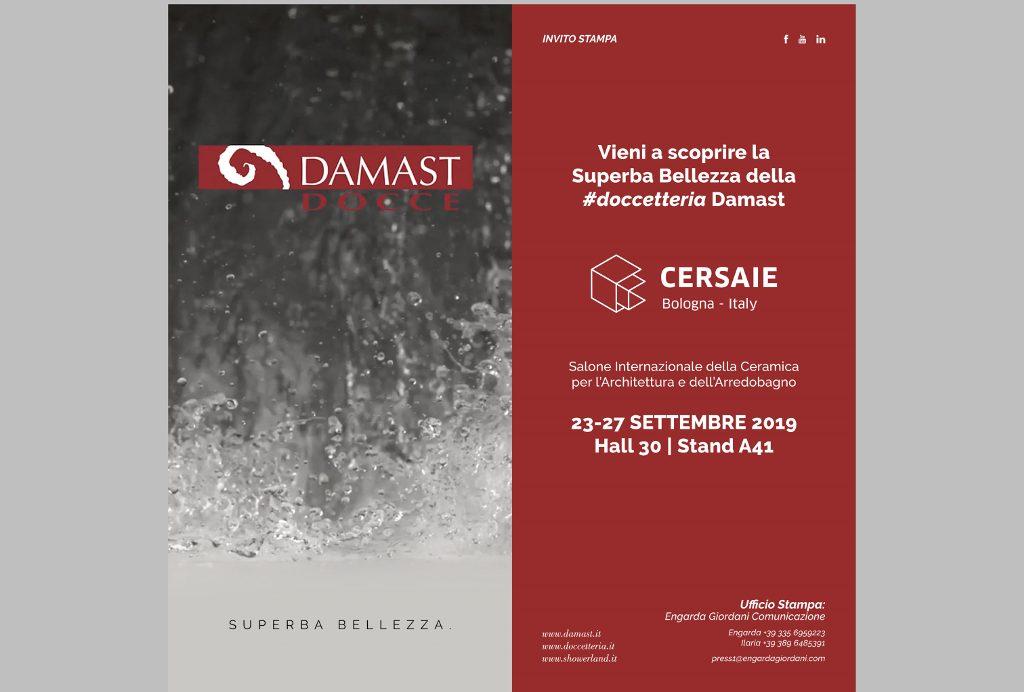 A Cersaie 2019 con la #doccetteria Damast