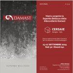 Invito Stampa a Cersaie 2019 per scoprire la doccetteria Damast
